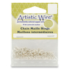 "18ga Artistic Wire Chain Maille Rings - Silver 4.37mm (11/64"")"